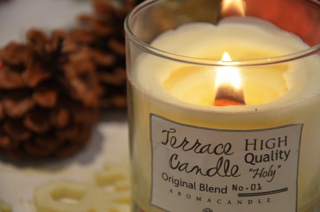 """» TERRACE candle – Wood wick aroma candle No.1 """"Holy"""""""