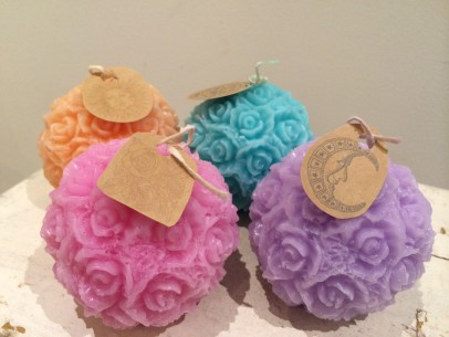 » TERRACE candle – Rose ball M
