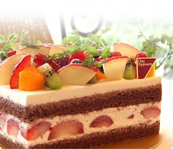 » パティスリー・シェ・カジワラ フローラデコレーションケーキ